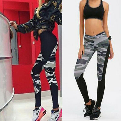 UK Women Yoga Mesh Workout Gym Leggings Fitness Sports Pants Stretch Trouser