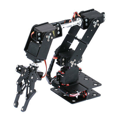 6DOF Mechnical Robot Arm + Beam + Servo + Metal Servo Wheel for Education DIY