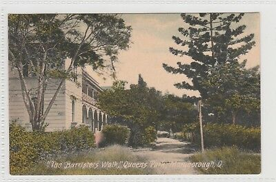 VINTAGE POSTCARD THE BARRISTERS   WALK QUEENS PARK MARYBOROUGH QLD  1900s