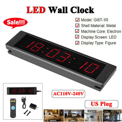 Remote Crossfit Interval Timer Wall Clock for Fitness Training inm