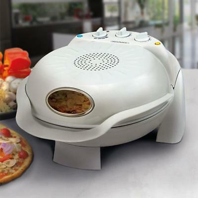 Smart Stone Baked Electric Pizza Oven Maker Rotating Cooking Stone Grill Machine