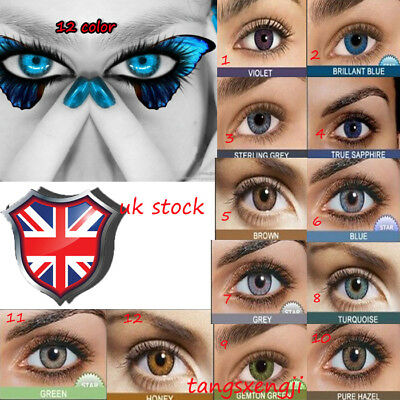Coloured Contact Lenses Crazy Halloween Coloured Cosmetic Makeup Cosplay lens5