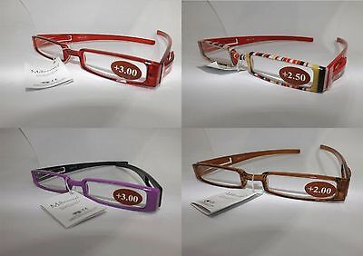 Occhiali per lettura colorati CE reading glasses SOTTILI unisex sottocosto! NEW