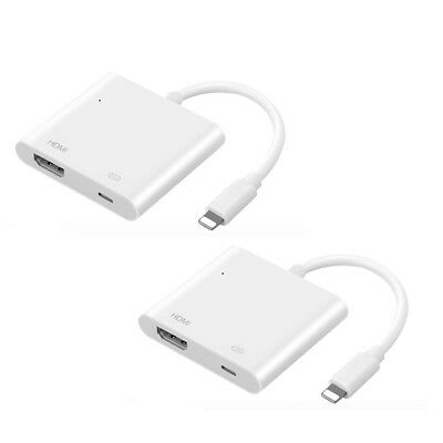 Light to AV HDMI TV Digital Cable Adapter For iphone 5 5S 6 6s 7 plus 8 adapter