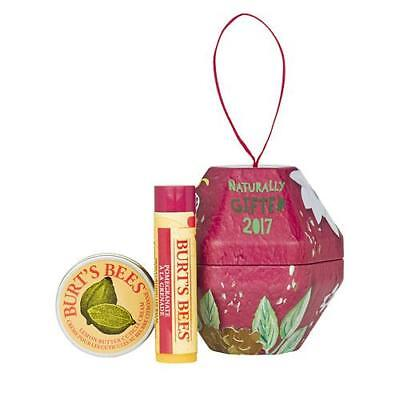 Burts Bees Gift Set - Pomegranate Christmas Bauble