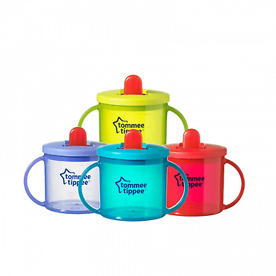 Tommee Tippee Essentials First Flip Top Handled Cup - 4 Colours to Choose From