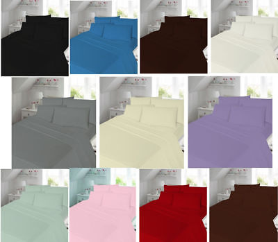 68 Pick Flat Sheet Plain Dyed 144 Threaded High Quality Polycotton Sheets