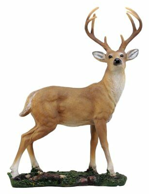 "Ebros Gift Wildlife 8 Point Trophy Buck Statue 15.25""H Outdoor Hunter Whitetail"