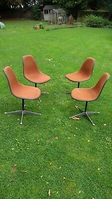 4 x GENUINE and Original Herman Miller Swivel Eames Chairs
