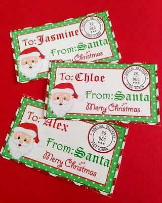 FROM Santa Gift Tags - Stickers - Christmas - Personalised