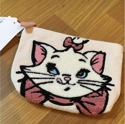 Aristocat Marie Sagara Embroidery pouch Accessory case Cosmetic bag White Japan