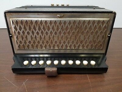 Vintage Hohner 10/4 Button Accordion For Repair
