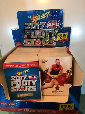 2017 AFL SELECT FOOTY STARS - 6 cards FOR $1