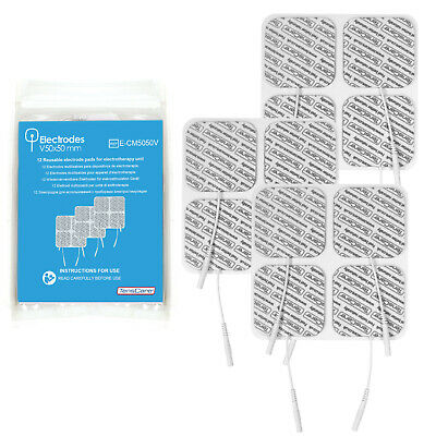 TensCare Value pack - 12 Electrode Pads 50x50 mm, Universal Connection, Reusable