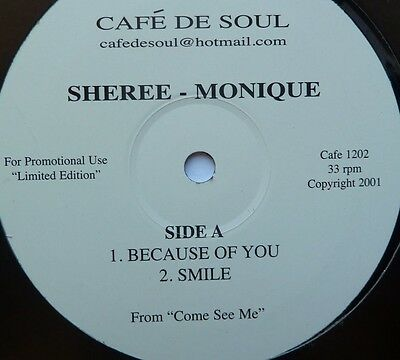 """Sheree - Monique - Because Of You/smile - 12"""" Vinyl"""