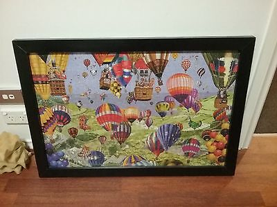 Black Painted Framed Puzzle Picture