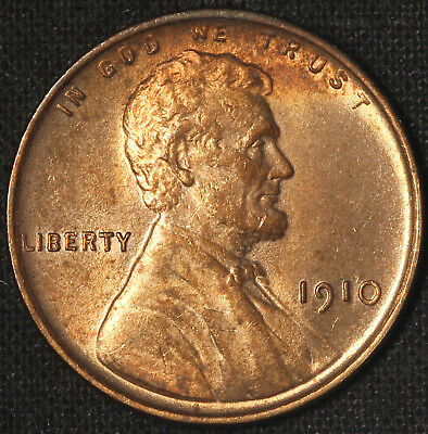 1910 Lincoln Cent - Bright BU -  Free Shipping USA
