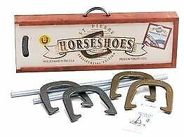 St. Pierre American Presidential Horseshoe Set In Wood Case