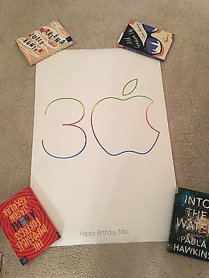 RARE Apple Computer iPhone Happy 30th Birthday Mac poster! 2x3 feet!