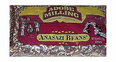 Adobe Milling Dried Anasazi Beans 16oz Bag Pack of 6 NEW, Free Shipping