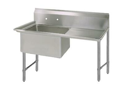 "BK Resources 18""x18"" One Compartment 16 Gauge Stainless Steel Sink"