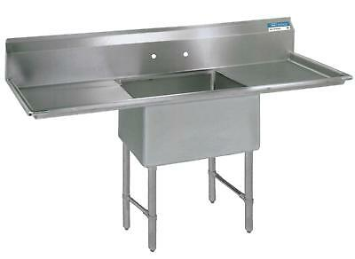 "BK Resources 18""x18""x14"" One Compartment 16 Gauge Stainless Steel Sink"