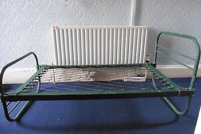 Antique Victorian Single  Cast Iron Bed Frame With Sprung Base