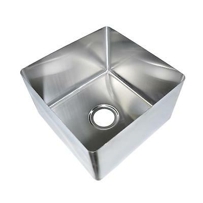 "BK Resources 20"" x 20"" x 12"" One Compartment Stainless Steel Weld-In Sink"