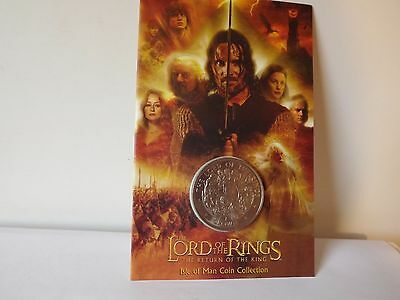 Lord of the Rings The Return of the King Collectible Coin Isle of Man. Crown