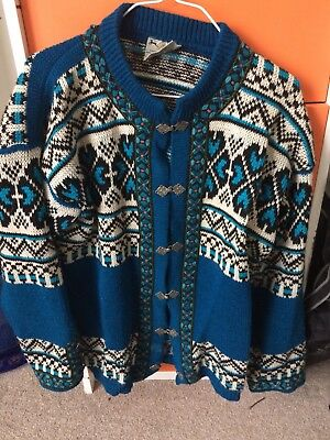 Vintage Blue Norwegian Jumper medium