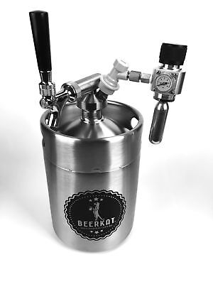 NEW 'Hogs Head' 8L Mini Beer Keg with Hogs Spear Tap  | Beer on Tap! Homebrew