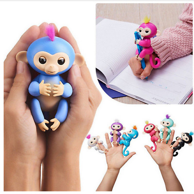 Interactive Baby Monkey 5 Color Kids Toy Sound Finger LED Motion Christmas Gift