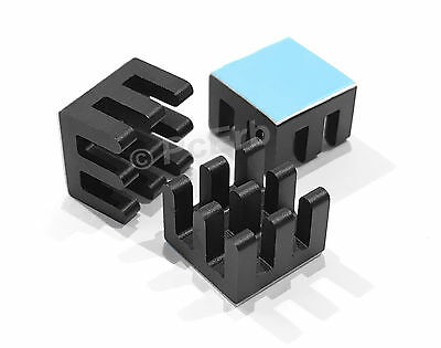 1 x Heat Sink Black Anodized with 3M Adhesive Tape (14mm x 14mm x 6mm)