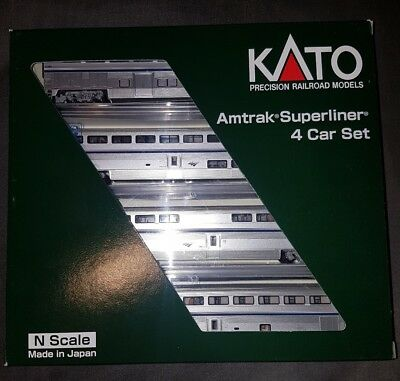Kato N scale Amtrak Superliner 4 car Set A Phase IVb