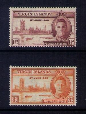 1946 Virgin Islands, KGVI Peace Issue SC# 88-9 MH set