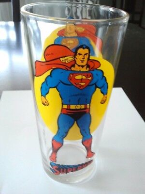 Vintage 1976 SUPERMAN Collectible Promo Glass - From The Pepsi Super Series