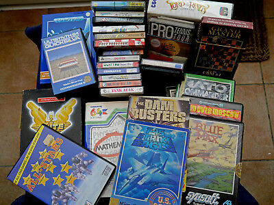 Bundle of 25 Games on Cassette and disk for the Commodore 64 Computer