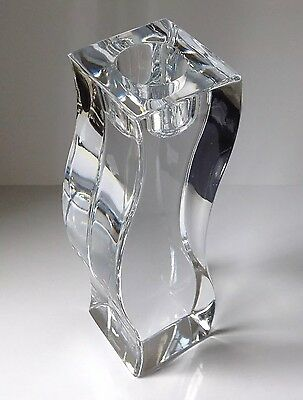 """Abstract ,,rogaska """" Lead Crystal Candle Holder"""