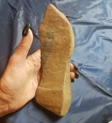 Paleolithic Indian Stone Arrowhead Axe Ax Spud Blade Cultivater Tool Maul Weapon
