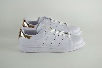 Adidas Stan Smith Rose Gold Bronze Bianca Sneakers Scarpe Donna Uomo Shoes