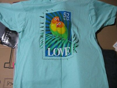 T-SHIRT-VINTAGE USPS with a 52 cent Love bird on the front-Mint condition