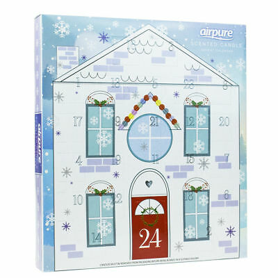 Airpure Scented Candle Advent Calendar Red Christmas