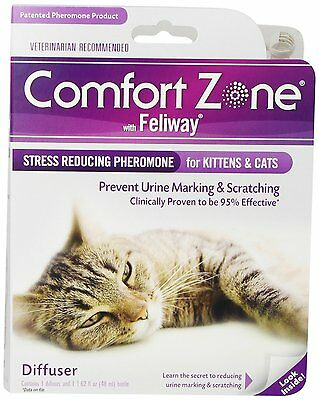Comfort Zone with Feliway 2Pack Cat Diffusers NEW, Free Shipping