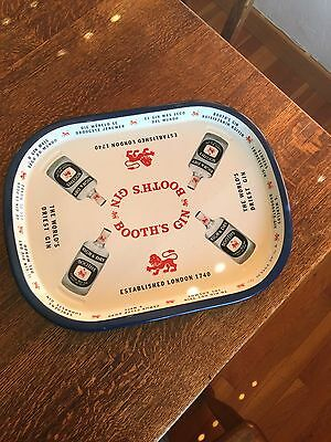 """Vintage BOOTH'S GIN Metal Tray 16 1/2"""" By 12 3/4"""""""