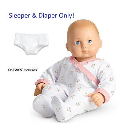 """American Girl BITTY BABY  COZY CUDDLY SLEEPER for 15"""" Dolls Diaper Clothes NEW"""