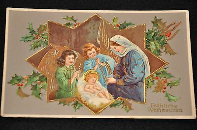 Wwi Imperial German Army Postcard 'christmas' Card W/ Lots Of Writing - Mailed