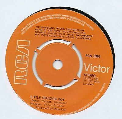 "Royal Scots Dragoon Guards - Little Drummer Boy - 7"" Single"