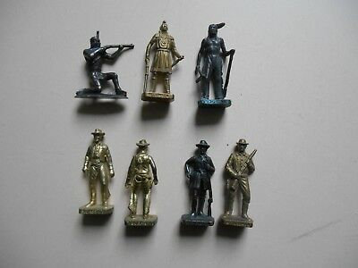 Kinder Metal Lot Figurines Far West