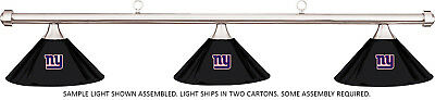 NFL New York Giants Black Metal Shade & Chrome Bar Billiard Pool Table Light