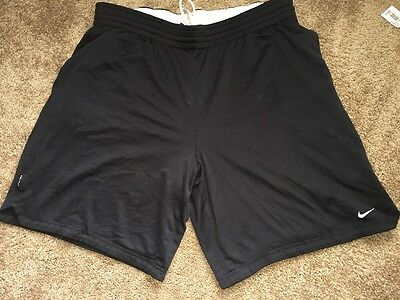 NIKE Men's Size XL Athletic DRI-FIT Running Fitness Black Shorts